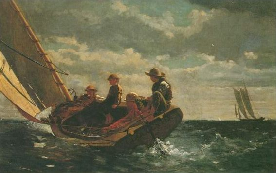Breezing Up (a fair wind) painting, a Winslow Homer paintings reproduction, we never sell Breezing