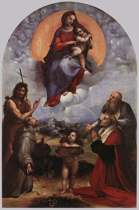 Raphael Oil Painting Reproductions- The Madonna of Foligno