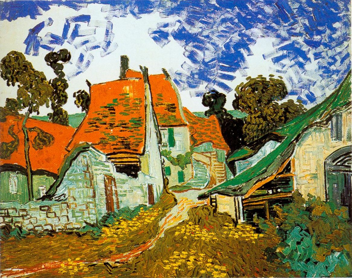 Red Village painting, a Vincent Van Gogh paintings reproduction,Red ...