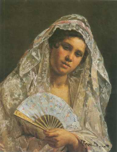 Spanish Dancer Wearing a Lace Mantilla painting