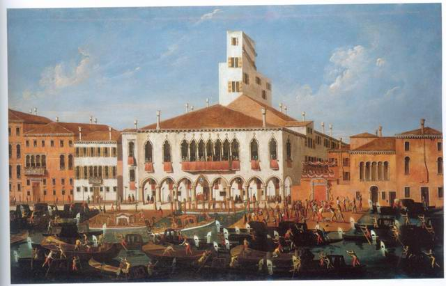 The Palazzo Correr painting, a Gabriele Bella paintings reproduction, we never sell The Palazzo