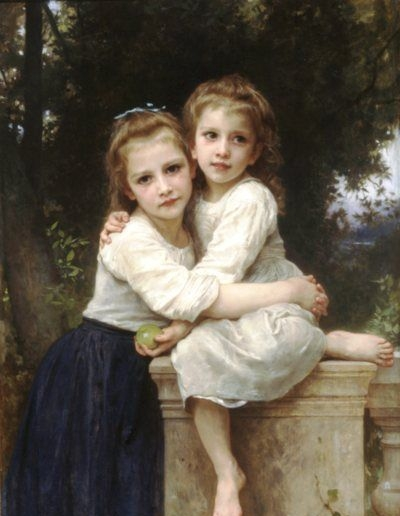 Two Sisters - Oil Painting Reproduction