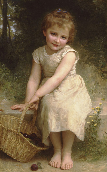 Oil Painting Reproduction of Bouguereau - Plums