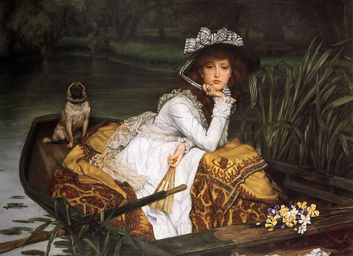 Tissot Oil Painting Reproductions- Young Lady in a Boat