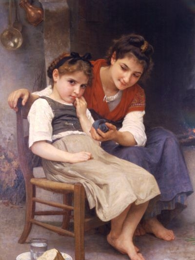 The little sulk - Oil Painting Reproduction