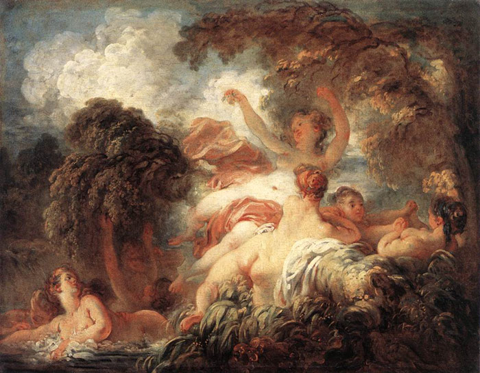 Fragonard Oil Painting Reproductions - The Bathers