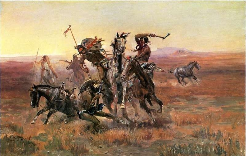 A Cree Indian - Oil Painting Reproduction