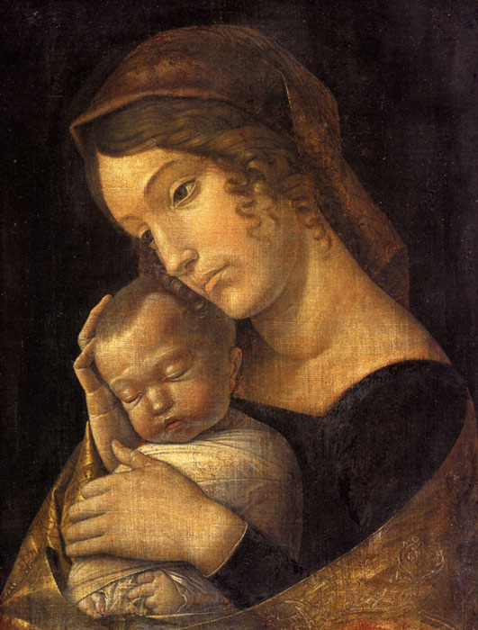 Andrea Mantegna Oil Painting Reproductions- Madonna with Sleeping Child