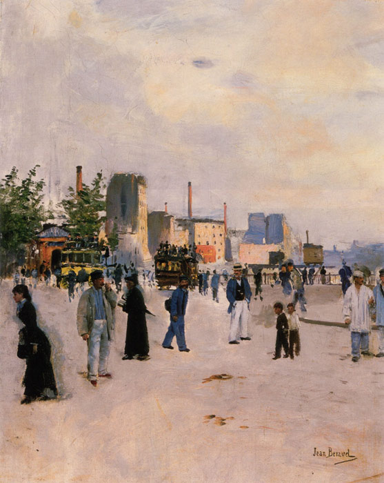 Beraud Oil Painting Reproductions- A Morning Stroll