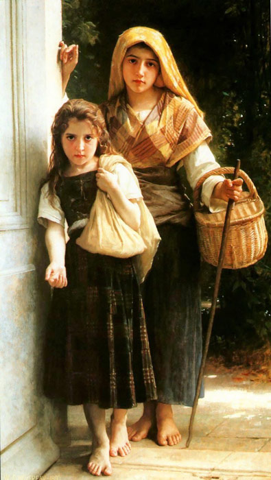Bouguereau Oil Painting Reproductions- Little beggars