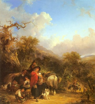 Cattle By A Stream - Oil Painting Reproduction