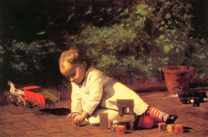 Eakins Reproductions - Baby at Play