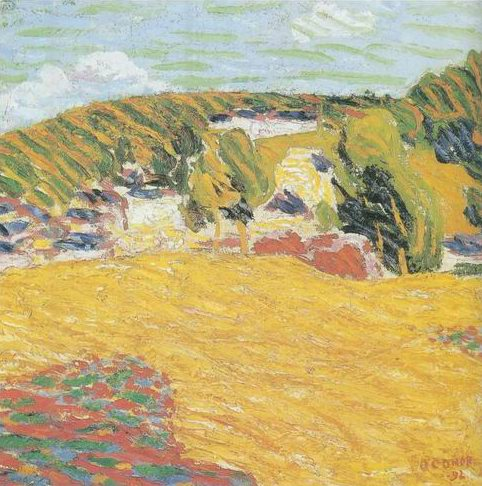 Field of Corn, Pont Aven, 1892 painting, a Roderic Oconor paintings reproduction, we never sell