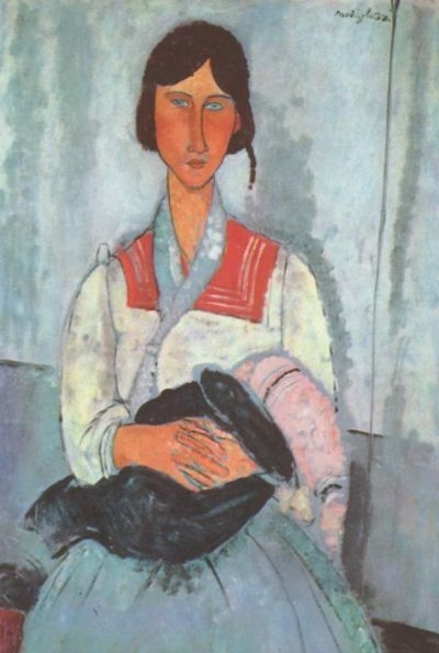 Gypsy Woman with Child - Oil Painting Reproduction