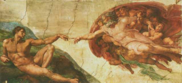 La Creazione di Adamo, the Creation of Adam painting