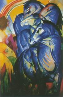 La Tour des Chevaux bleus painting, a Franz Marc paintings reproduction