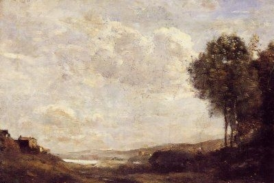 Landscape by the Lake - Oil Painting Reproduction