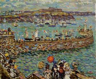 Lighthouse at St. Malo painting, a Maurice Prendergast paintings reproduction, we never sell