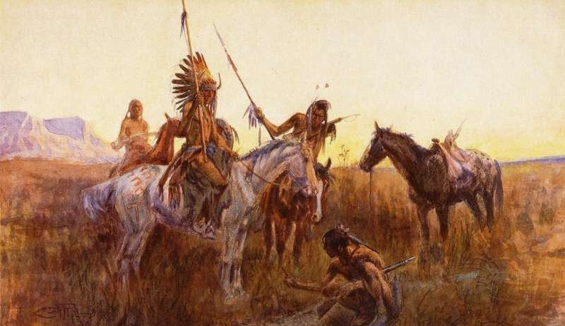 Mourning her Warrior Dead - Oil Painting Reproduction