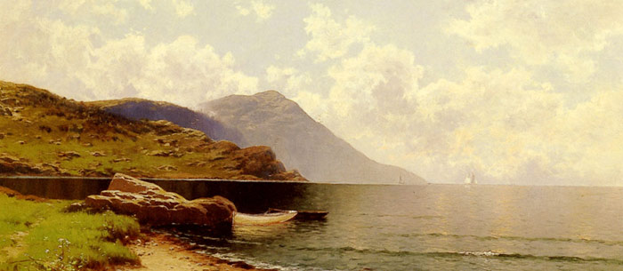Oil Painting Reproduction of Alfred Bricher- Rippling Sea Manchester