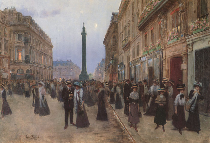 Oil Painting Reproduction of Beraud - La Rue de la Paix