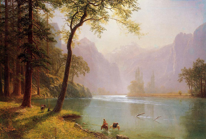 Oil Painting Reproduction of Bierstadt - Kerns River Valley, California