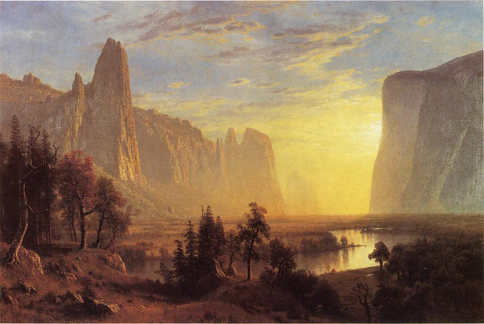 Oil Painting Reproduction of Bierstadt- Yosemite Valley