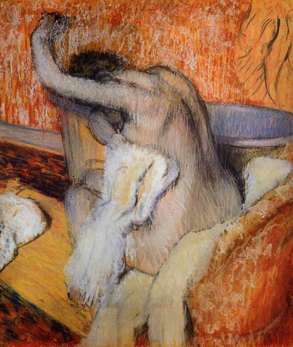 Oil Painting Reproduction of Degas - After the Bath Woman Drying Herself