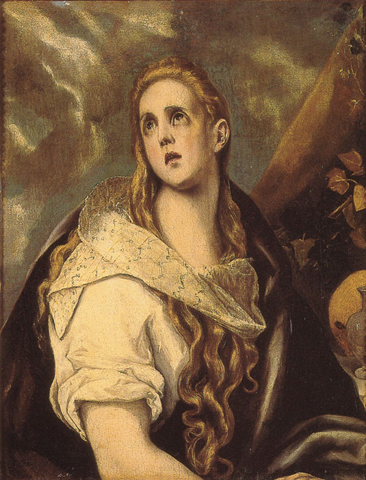 Oil Painting Reproduction of El Greco- The Penitent Magdalene