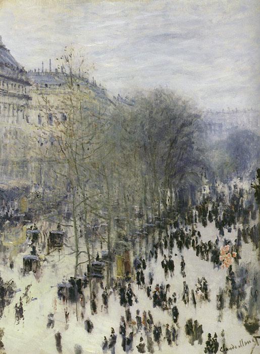 Oil Painting Reproduction of Monet- Boulevard des Capucines