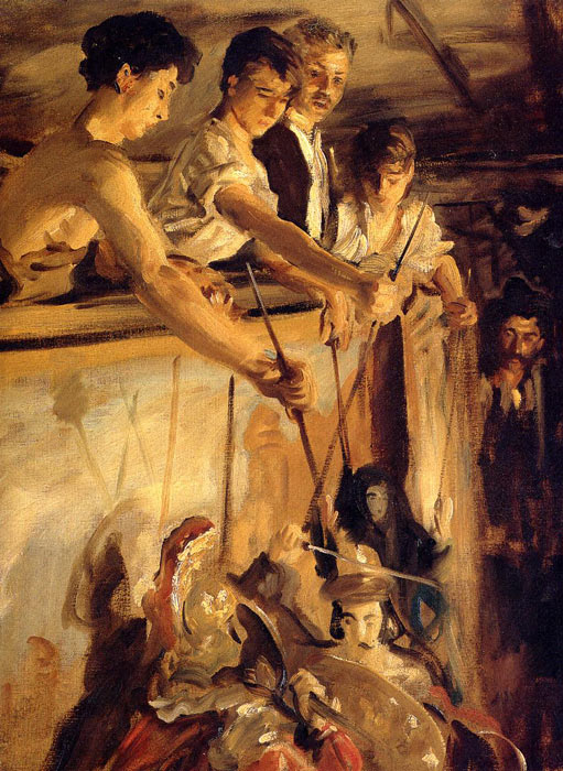 Oil Painting Reproduction of Sargent- Marionettes