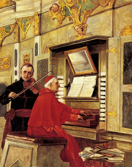 Oil Painting Reproduction of Vibert- The Duet
