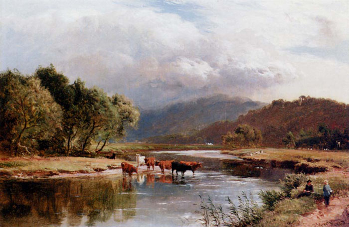 Percy Oil Painting Reproductions - The Ponway, Trefew, North Wales