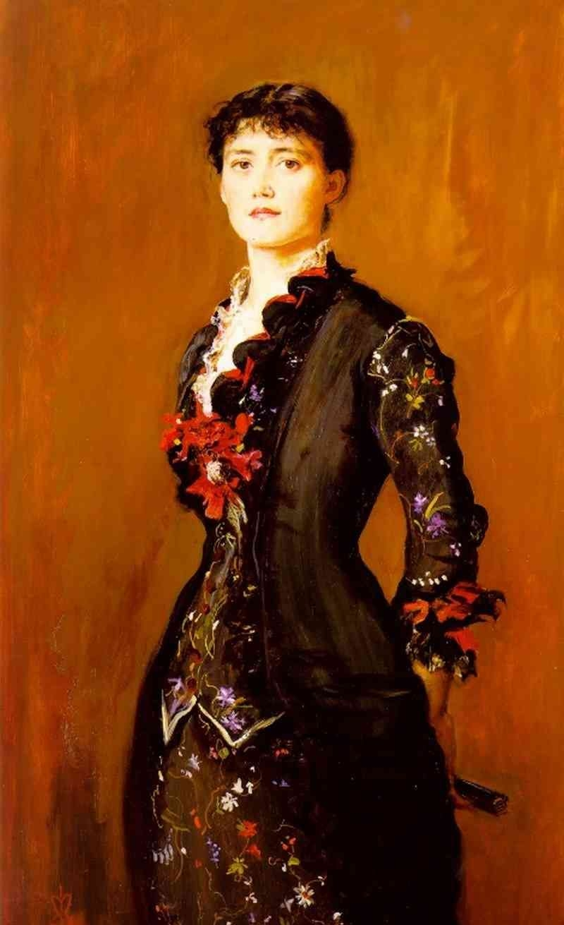 Portrait of Gracia Lees - Oil Painting Reproduction