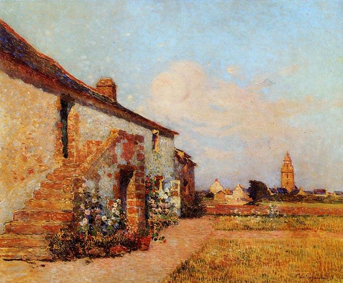 Puigaudeau Oil Painting Reproductions - Bourg-de-Batz, Brittany