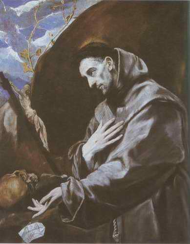 St. Francis in Meditation painting, a El Greco paintings reproduction, we never sell St. Francis in