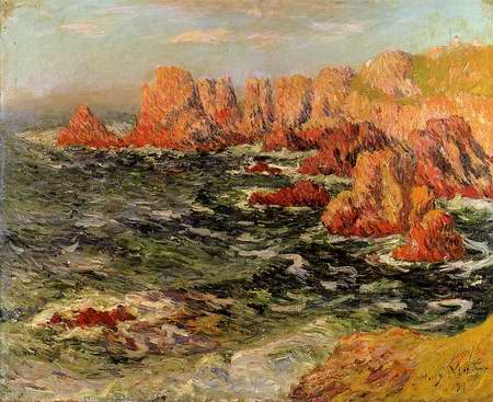 The Breton Coast painting