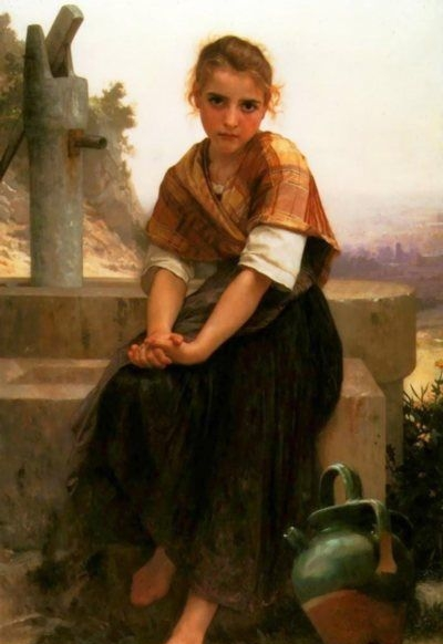 The Broken Pitcher - Oil Painting Reproduction