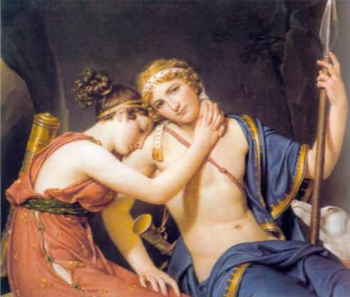 The Farewell of Telemachus and Eucharis painting