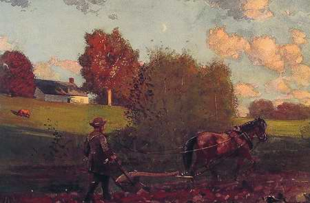 The Last Furrow painting, a Winslow homer paintings reproduction