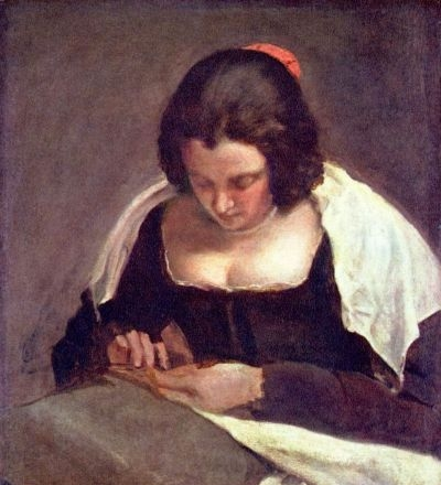 The Needlewoman - Oil Painting Reproduction