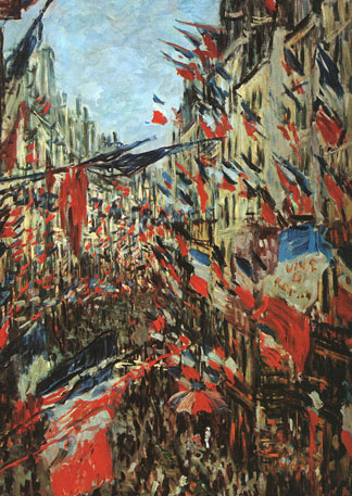 The Rue Saint-Denis, 30th of June,1878 painting, a Claude Monet paintings reproduction, we never