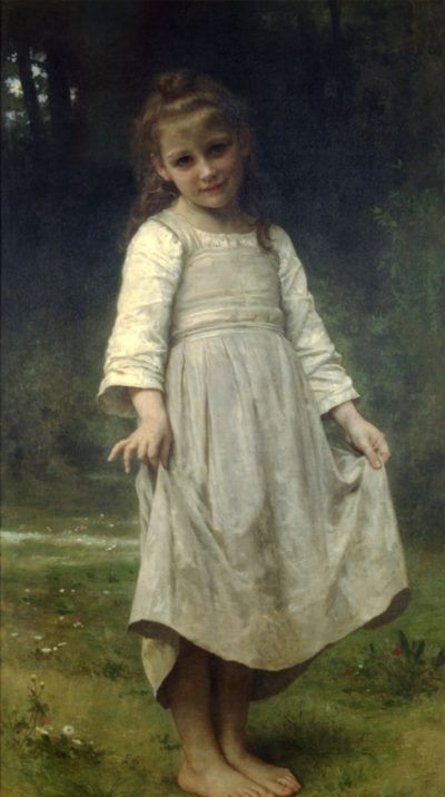 The curtsey - Oil Painting Reproduction