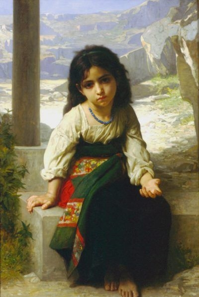 The little beggar - Oil Painting Reproduction