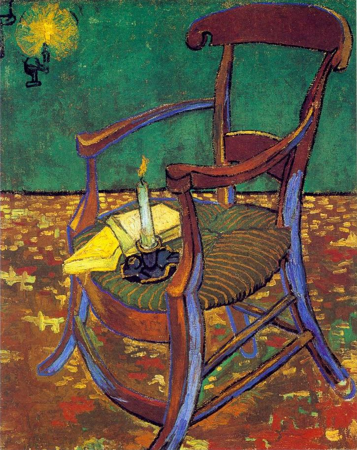 chair and candle painting, a Vincent Van Gogh paintings reproduction, we never sell chair and candle