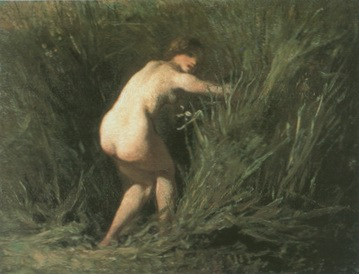 girl in bulrush painting, a Jea Francois Millet paintings reproduction, we never sell girl in