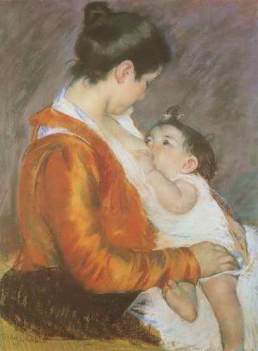 suckling painting, a Mary Cassatt paintings reproduction, we never sell suckling poster