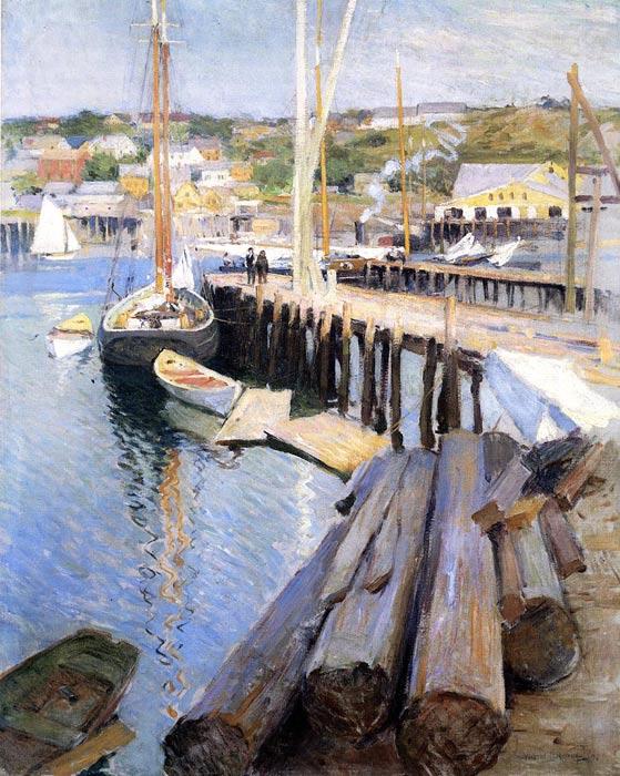Gainsborough Oil Painting Reproductions - Fen Bridge Lane