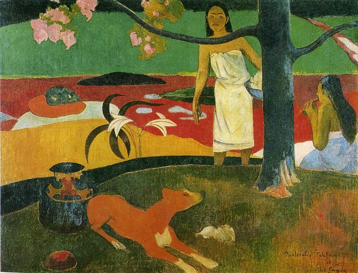 Gauguin Oil Painting Reproductions- Pastorales Tahitiennes
