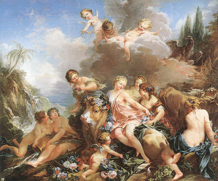 Boucher Oil Painting Reproductions- The Rape of Europa